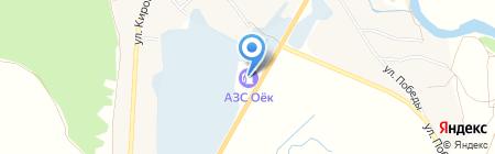 АЗС Оёк на карте Иркутска