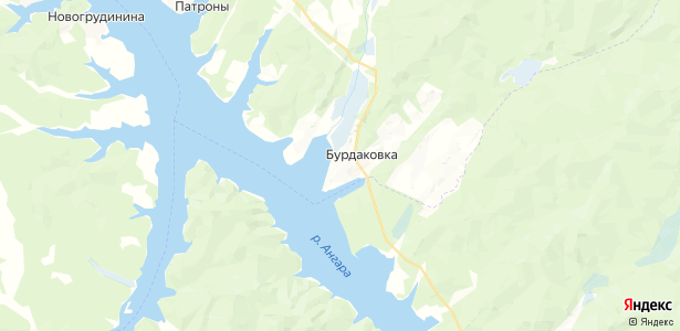 Бурдаковка на карте