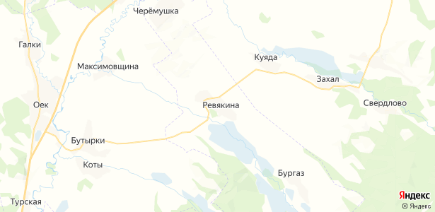 Ревякина на карте