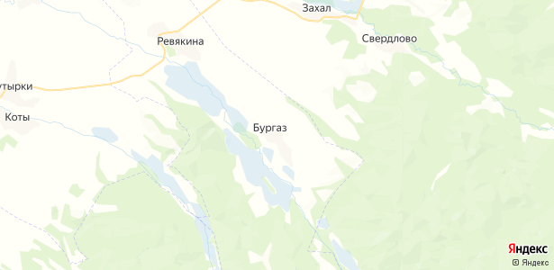 Бургаз на карте