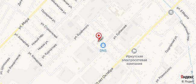 Карта расположения пункта доставки Westfalika в городе Усть-Ордынский