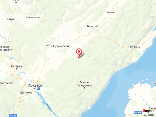 деревня Светлый на карте