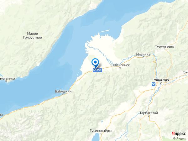 поселок Горный на карте