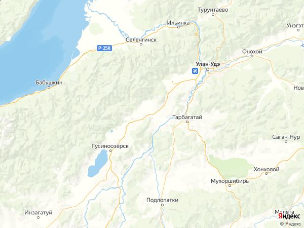 поселок Улус Оронгой на карте