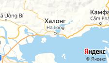 Отели города Халонг на карте