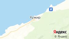 Отели города Хужир на карте