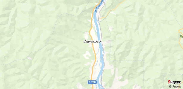 Ошурково на карте