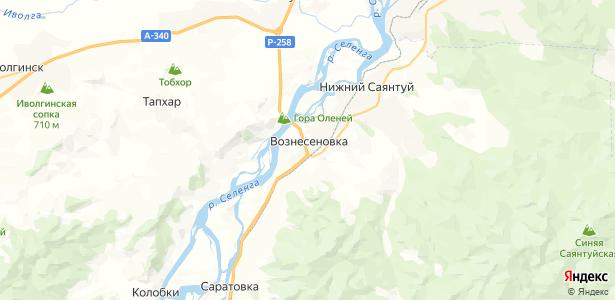 Вознесеновка на карте