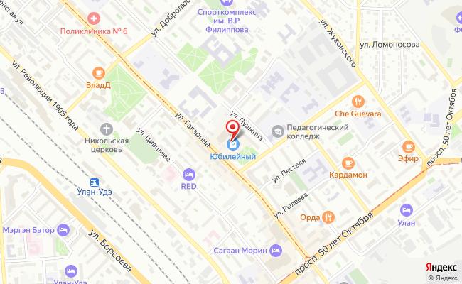 Карта расположения пункта доставки Улан-Удэ Гагарина в городе Улан-Удэ