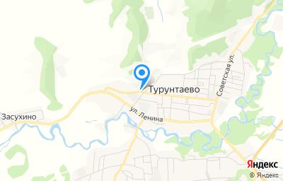 Местоположение на карте пункта техосмотра по адресу Респ Бурятия, Прибайкальский р-н, с Турунтаево, ул Хлебозаводская, д 3Б