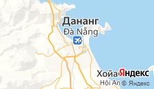 Отели города Дананг на карте