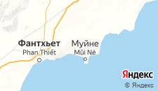 Отели города Фантхьет на карте