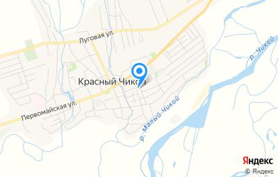 Местоположение на карте пункта техосмотра по адресу Забайкальский край, с Красный Чикой, ул Октябрьская, д 12