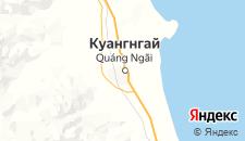 Отели города Куангнгай на карте
