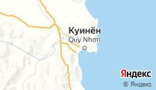 Отели города Куинён на карте