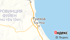 Отели города Туихоа на карте