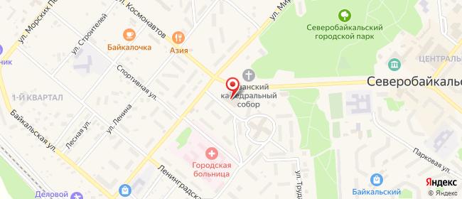 Карта расположения пункта доставки На Мира в городе Северобайкальск