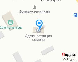 Схема местоположения почтового отделения 671455