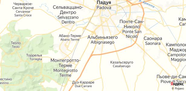 Albignasego на карте