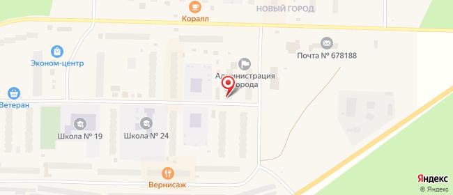 Карта расположения пункта доставки Пункт выдачи в городе Удачный
