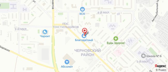 Карта расположения пункта доставки Чита Фадеева в городе Чита