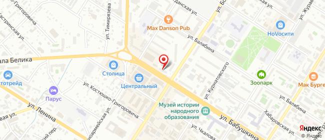Карта расположения пункта доставки Билайн в городе Чита