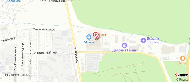 Карта расположения пункта доставки Чита Шилова в городе Чита