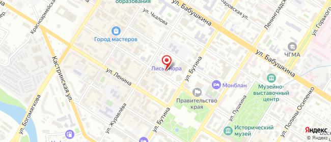 Карта расположения пункта доставки Ростелеком в городе Чита