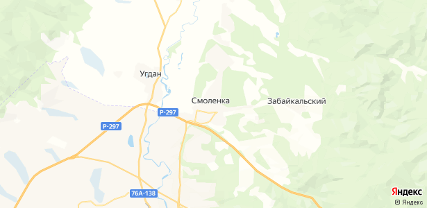 Смоленка на карте