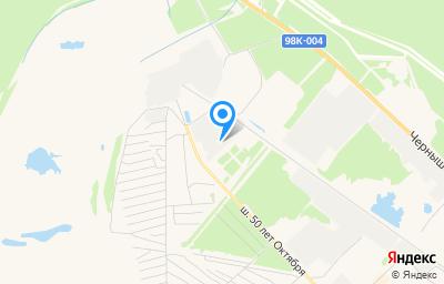Местоположение на карте пункта техосмотра по адресу Респ Саха /Якутия/, г Мирный, ш 50 лет Октября, д 36