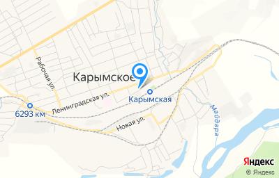 Местоположение на карте пункта техосмотра по адресу Забайкальский край, пгт Карымское, ул Вокзальная, д 23