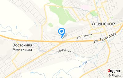 Местоположение на карте пункта техосмотра по адресу Забайкальский край, Агинский р-н, пгт Агинское, ул Телевизионная