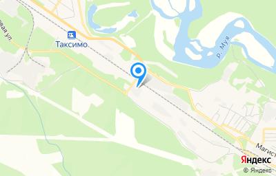 Местоположение на карте пункта техосмотра по адресу Респ Бурятия, пгт Таксимо, ул Притрассовая, д 29А