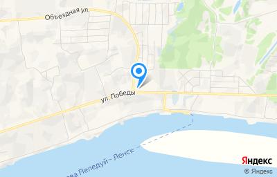 Местоположение на карте пункта техосмотра по адресу Респ Саха /Якутия/, г Ленск, ул Победы, зд 101