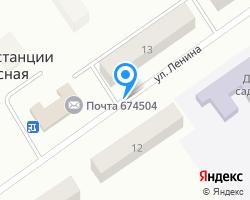Схема местоположения почтового отделения 674504
