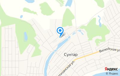 Местоположение на карте пункта техосмотра по адресу Респ Саха /Якутия/, с Сунтар, ул Николая Ананьева, д 6