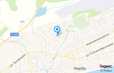 Местоположение на карте пункта техосмотра по адресу Респ Саха /Якутия/, г Нюрба, ул Лесная, д 20 к б