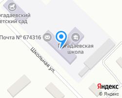 Схема местоположения почтового отделения 674316