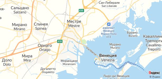Venezia на карте