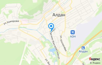 Местоположение на карте пункта техосмотра по адресу Респ Саха /Якутия/, г Алдан, ул Мегино-Кангаласская, д 24