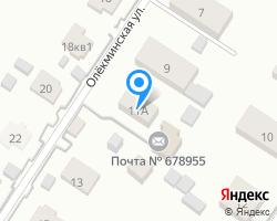 Схема местоположения почтового отделения 678955
