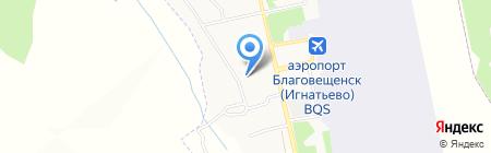 Музей гражданской авиации Амурской области на карте Игнатьево