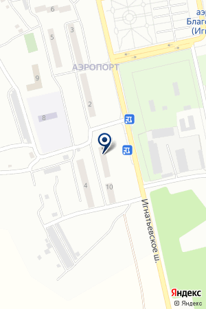 Продовольственный магазин наулице Аэропорт на карте Аэропорта
