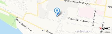 Автокомплекс на Железнодорожной на карте Благовещенска