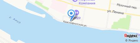 Амурский областной радиотелевизионный передающий центр на карте Благовещенска