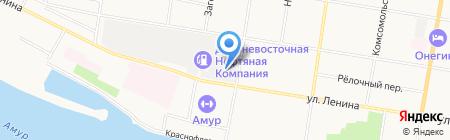 Иномарка на карте Благовещенска