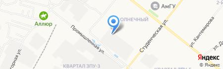 Интеравто на карте Благовещенска