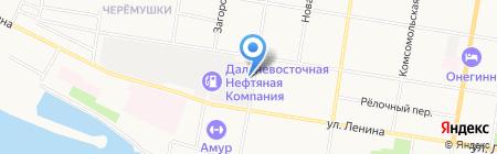 Автомойка на Артиллерийской на карте Благовещенска