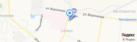 Школьный на карте Благовещенска
