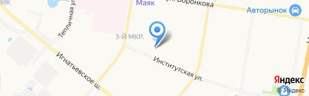 Средняя общеобразовательная школа №16 на карте Благовещенска